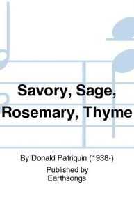 Savory, Sage, Rosemary And Thyme SATB - Arr. Donald Patriquin