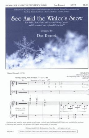 See Amid The Winter's Snow SATB - Arr. Dan Forrest