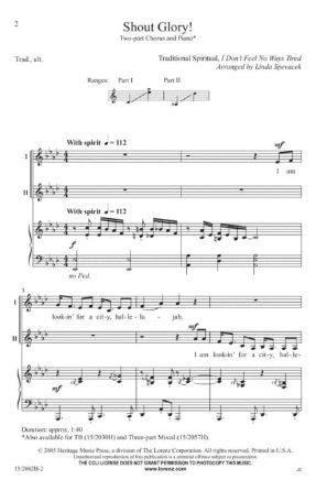 Shout Glory 2-Part - Arr. Linda Spevacek