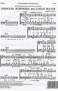 Versicles, Responses, and Lord's Prayer SATB - Herbert Sumsion