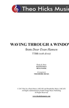 Waving Through A Windw TTBB - arr. Theodore Hicks