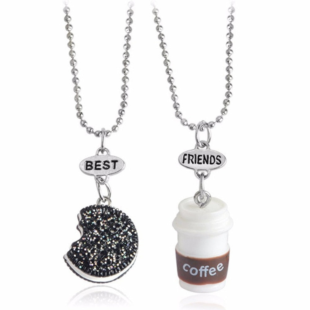 Cookies & Coffee Twin Necklaces