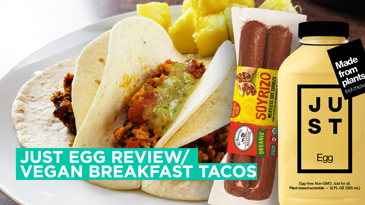 Just Egg Review | Vegan Breakfast Tacos