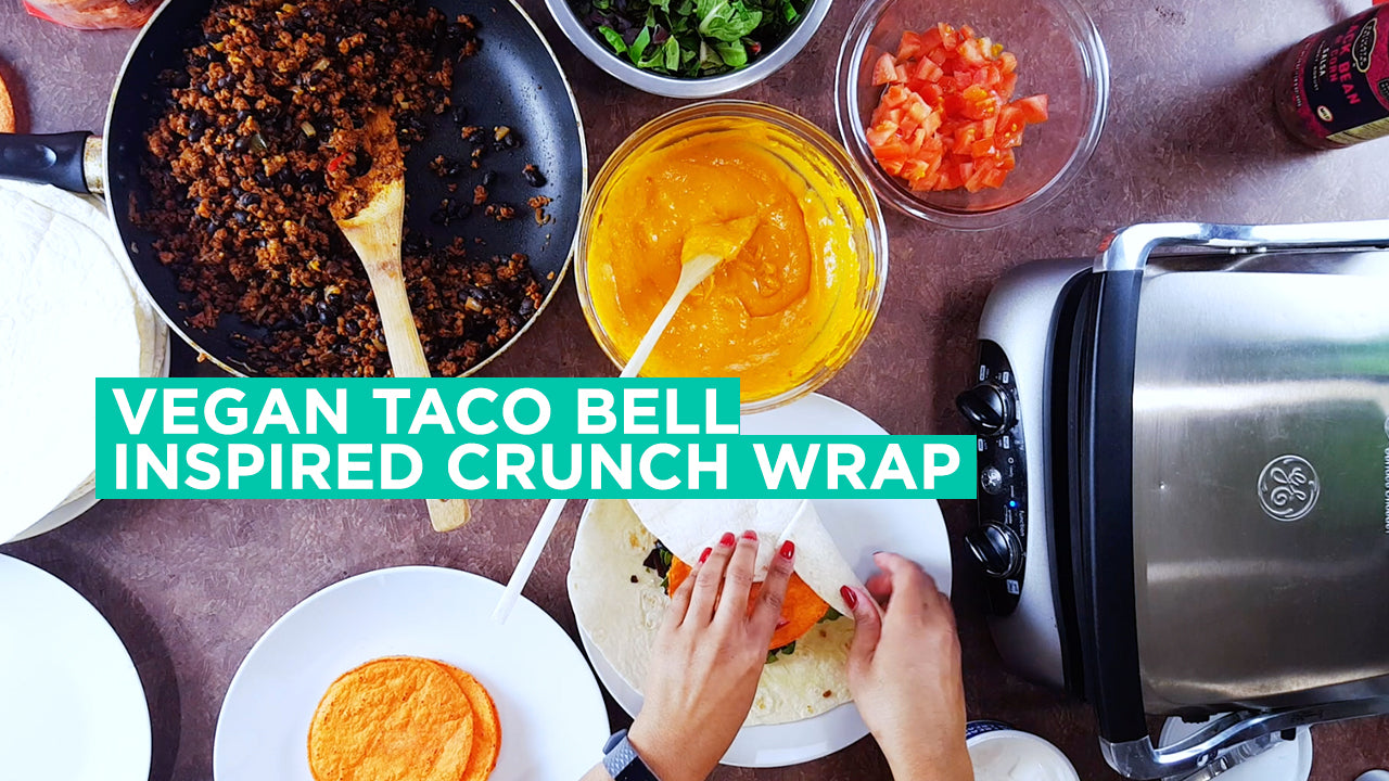 Taco Bell Inspired Crunch Wrap [Easy Vegan Recipe]
