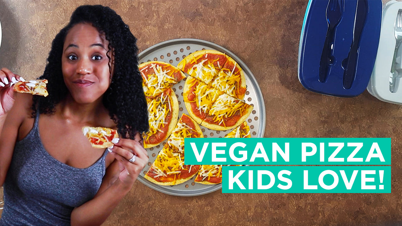 Pizza Kids Love! - Vegan Kids School Lunch