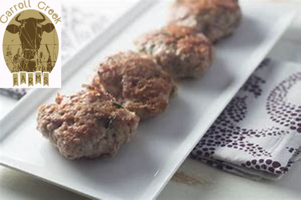 Woodlot Raised Berkshire Sage Pork Sausage Patties, Four 0.25 lbs patties