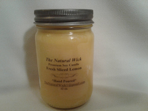 Fresh Sliced Lemon (12oz. Soy Candle)