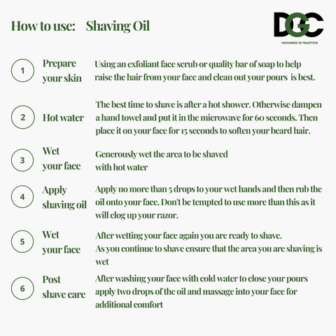 Shaving Oil - How to use guide