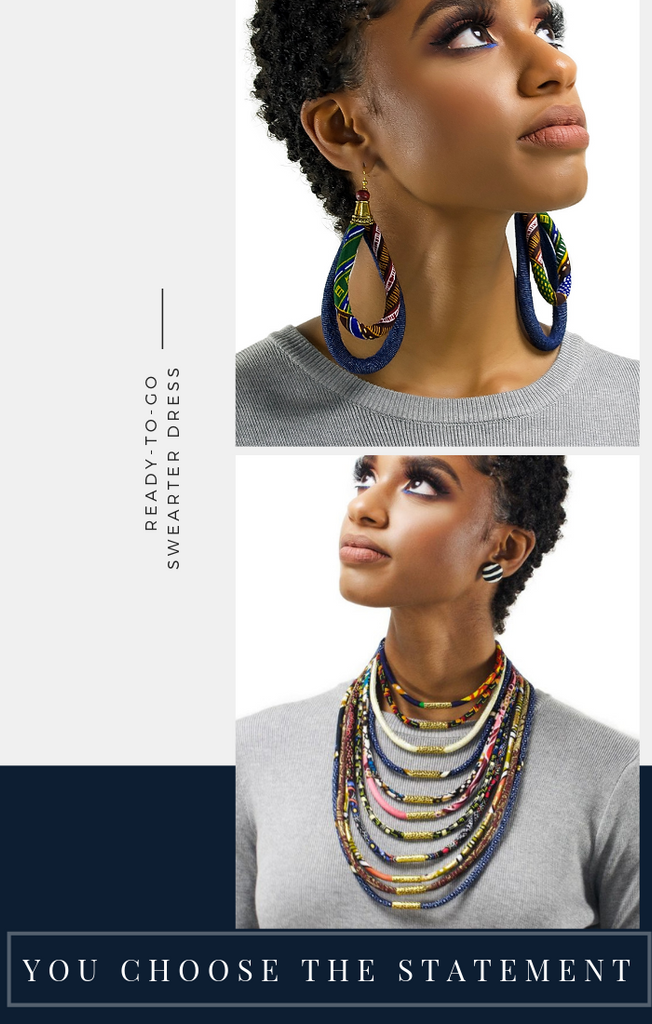 When & Wear x Cloth & Cord | Ankara Earrings