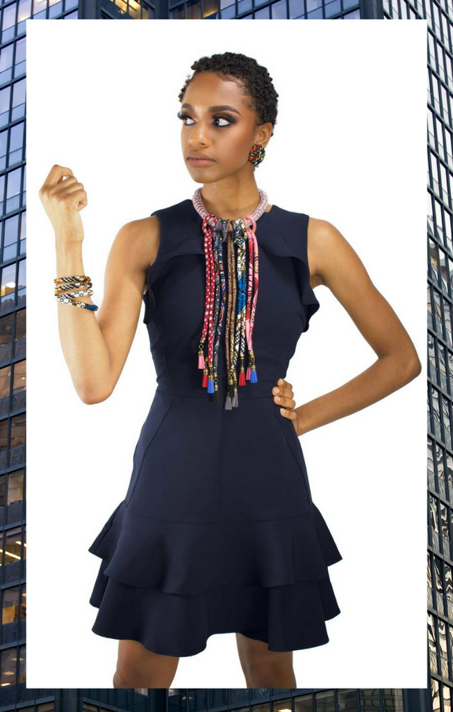 When & Wear x Cloth & Cord | Ankara Necklace