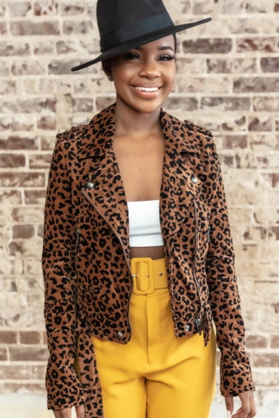 Leopard Moto Jacket | When & Wear