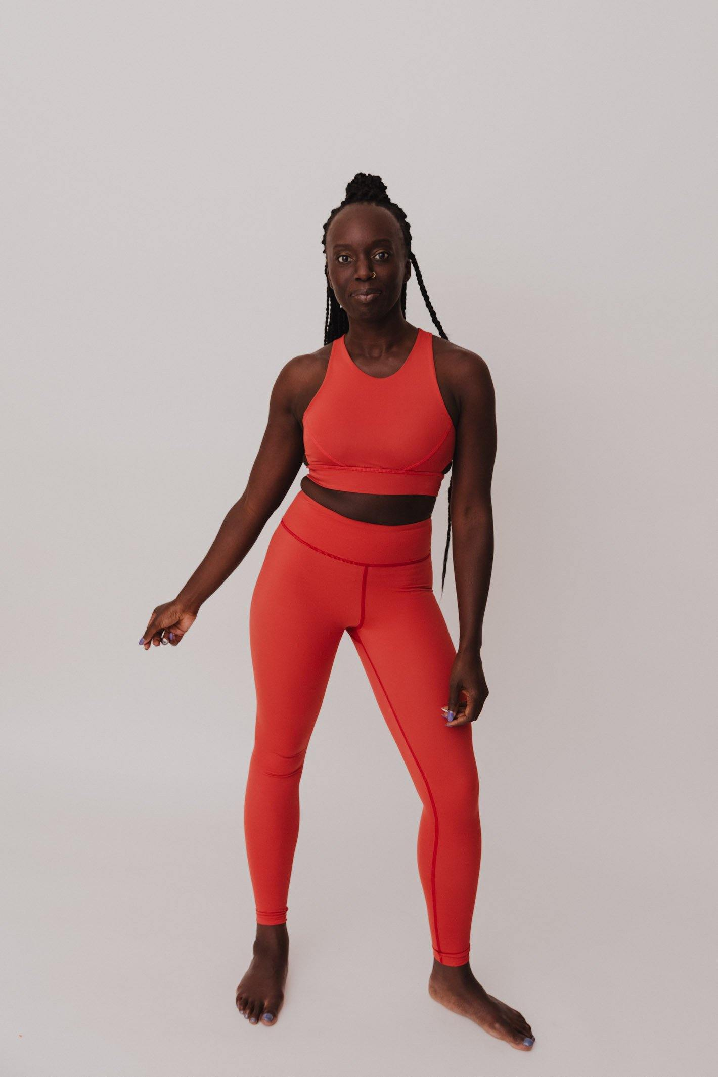BESONNEN Walk Free Leggings - Color:Papaya