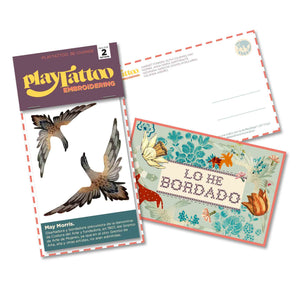El packaging de este tatuaje temporal de Playtattoo Be Change incluye una postal