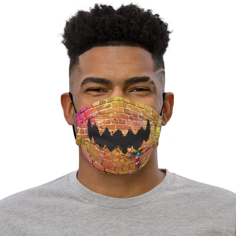 Brick Wall Ink Face Premium face mask