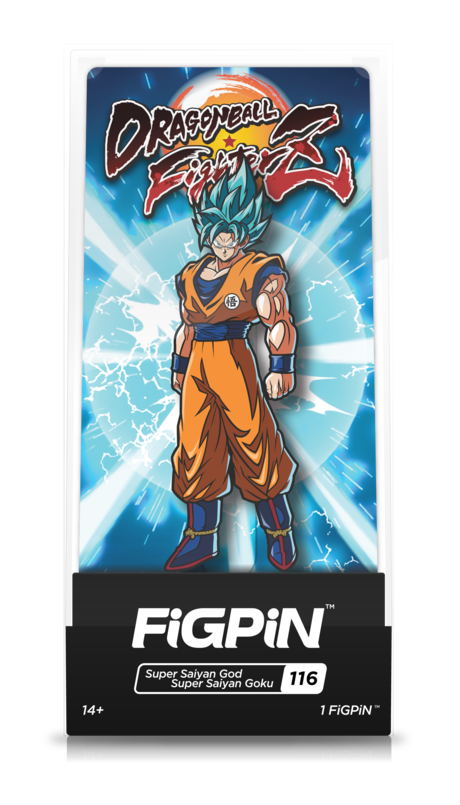 Dragon Ball FighterZ Super Saiyan God Super Saiyan Goku #116 FiGPiN Enamel Pin - RedGuardian Art & Toys