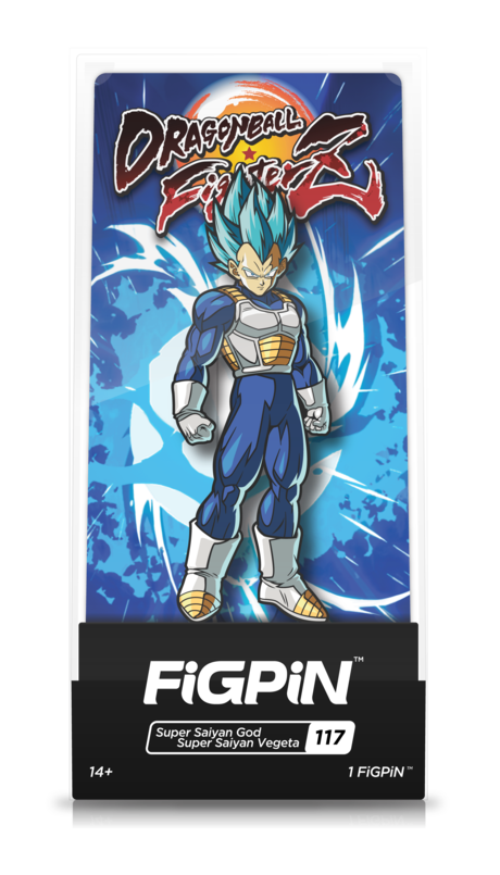 Dragon Ball FighterZ Super Saiyan God Super Saiyan Vegeta #117 FiGPiN Enamel Pin - RedGuardian Art & Toys
