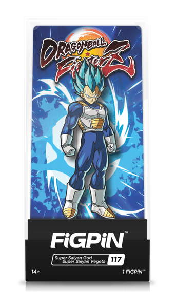 Dragon Ball FighterZ Super Saiyan God Super Saiyan Vegeta #117 FiGPiN Enamel Pin