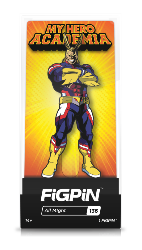 My Hero Academia All Might #136 FiGPiN Enamel Pin - RedGuardian Art & Toys
