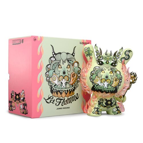 La Flamme by Junko Mizuno 8-Inch Green Dunny Vinyl Figure - RedGuardian Art & Toys