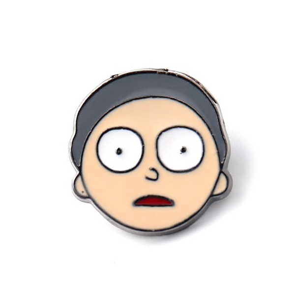 Scared Morty Pin