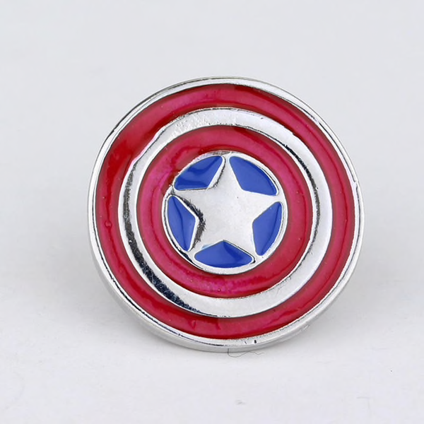Captain America Shield Pin