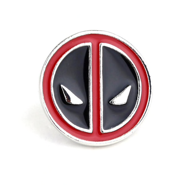 Deadpool Face Logo Pin