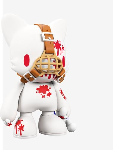 Gloomy in White SuperJanky by Mori Chack - RedGuardian Art & Toys