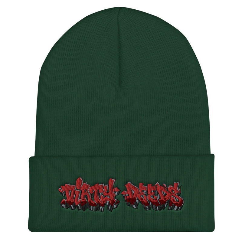 Dirty Deeds Graffiti Cuffed Beanie