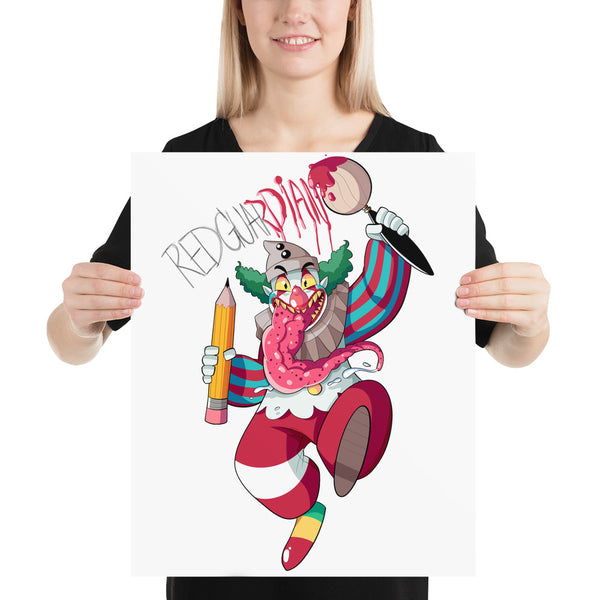 Dancing Clown Photo paper poster