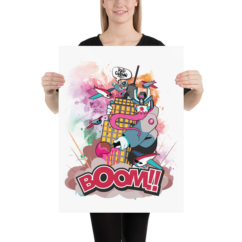 BOOM Clown Teq Photo paper poster