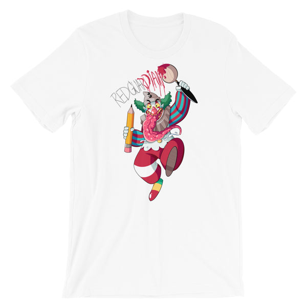Dancing Clown Short-Sleeve Unisex T-Shirt - RedGuardian Art & Toys