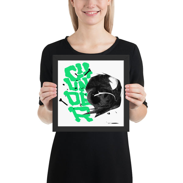 Abstract B/W Chunder Framed poster