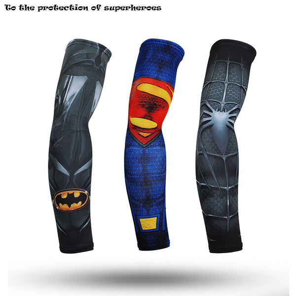 Superhero Quick Dry Unisex Workout Arm Sleeves - RedGuardian Art & Toys