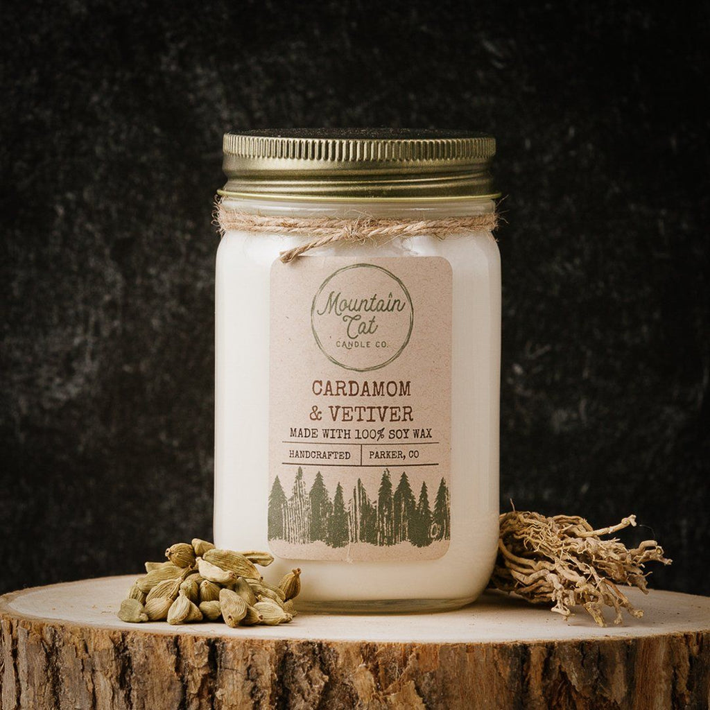 Cardamom & Vetiver - Mountain Cat Candle Co.