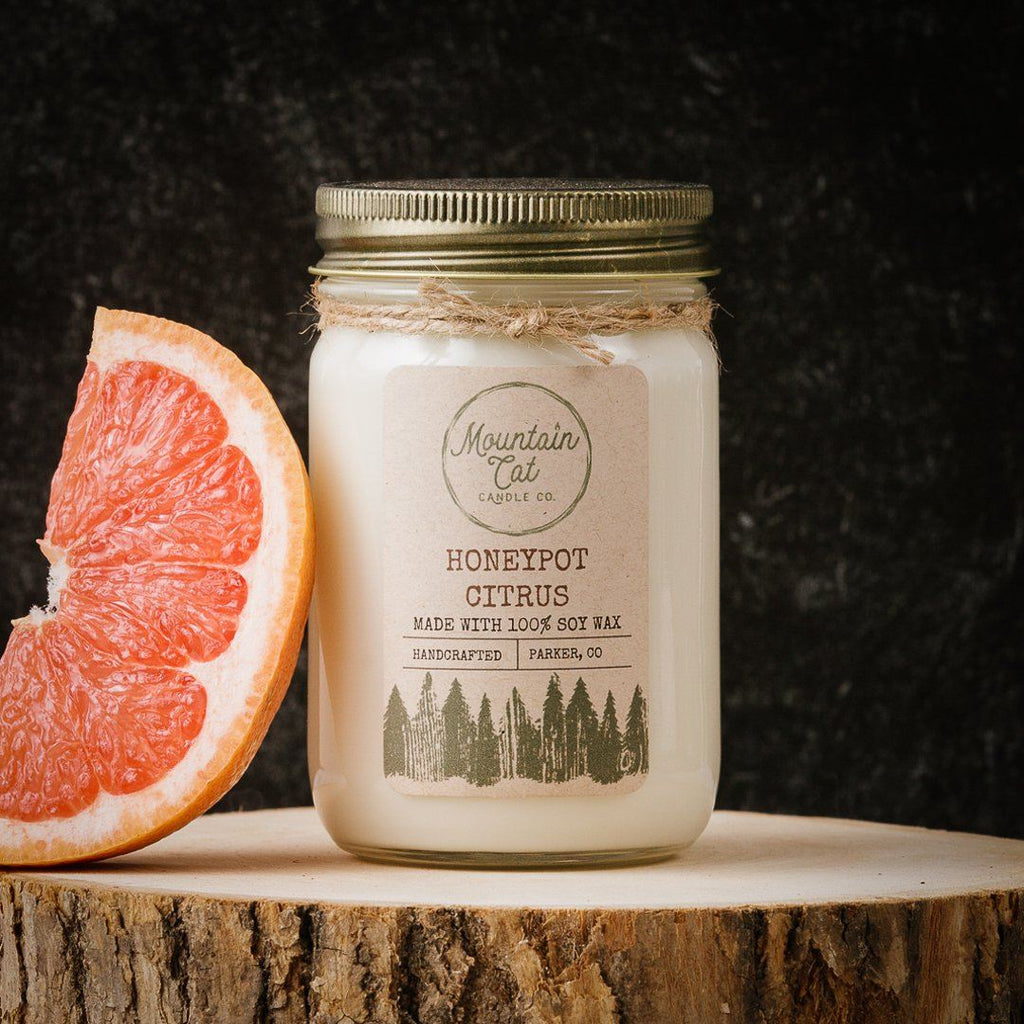 Honeypot Citrus - Mountain Cat Candle Co.