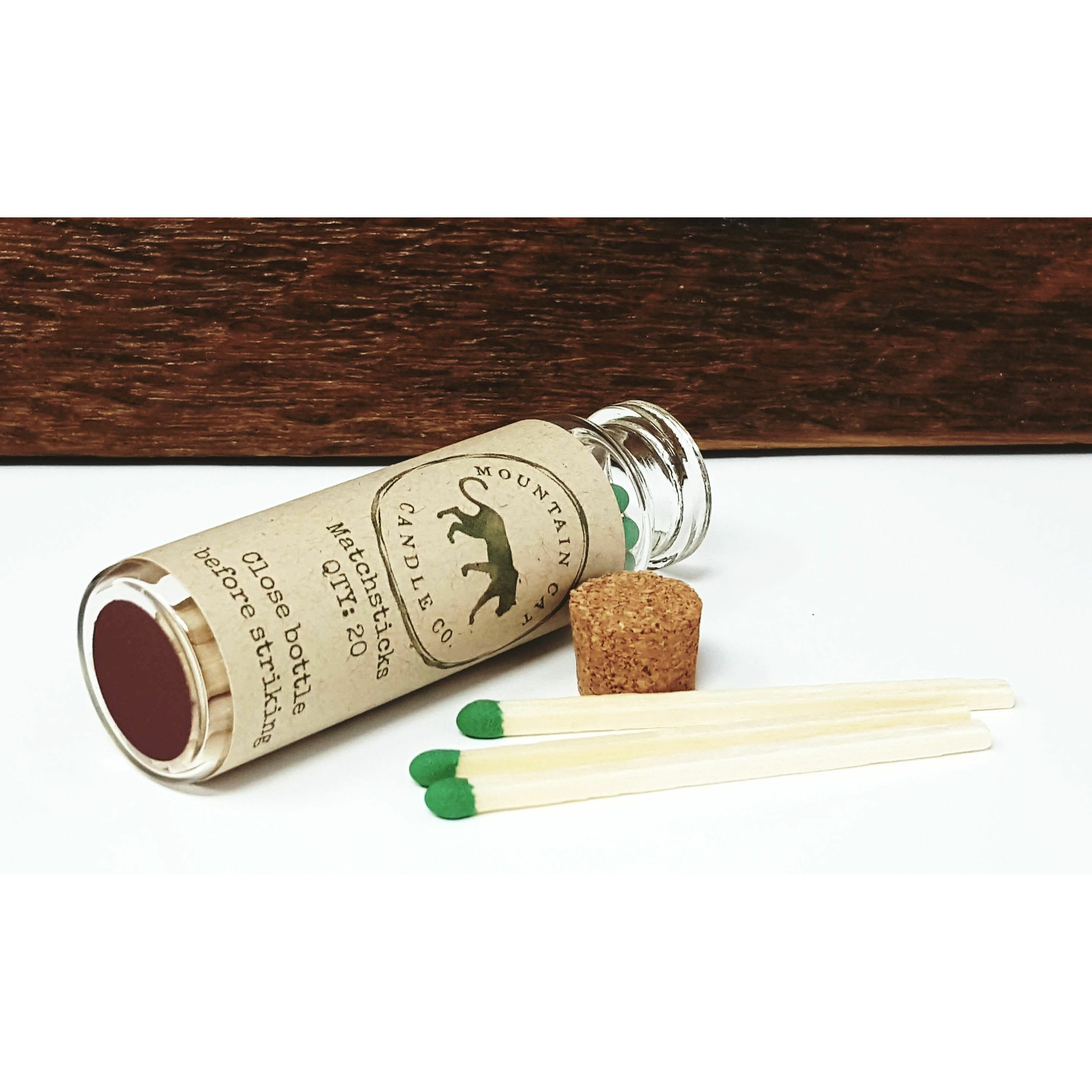 Apothecary Matchstick Bottle - Mountain Cat Candle Co.
