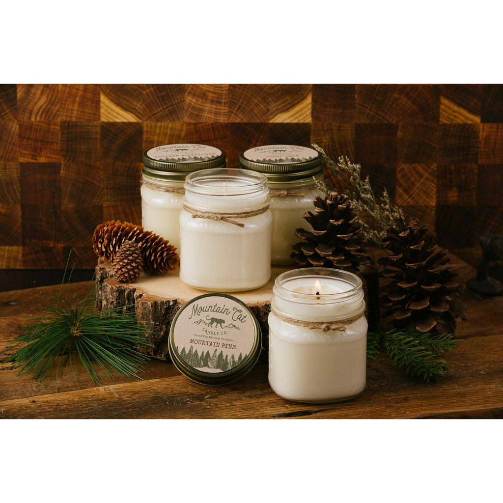 Rustic Farmhouse Mason Jar Candles - Mountain Cat Candle Co.