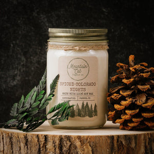 Spiced Colorado Nights Candles Mountain Cat Candle Co