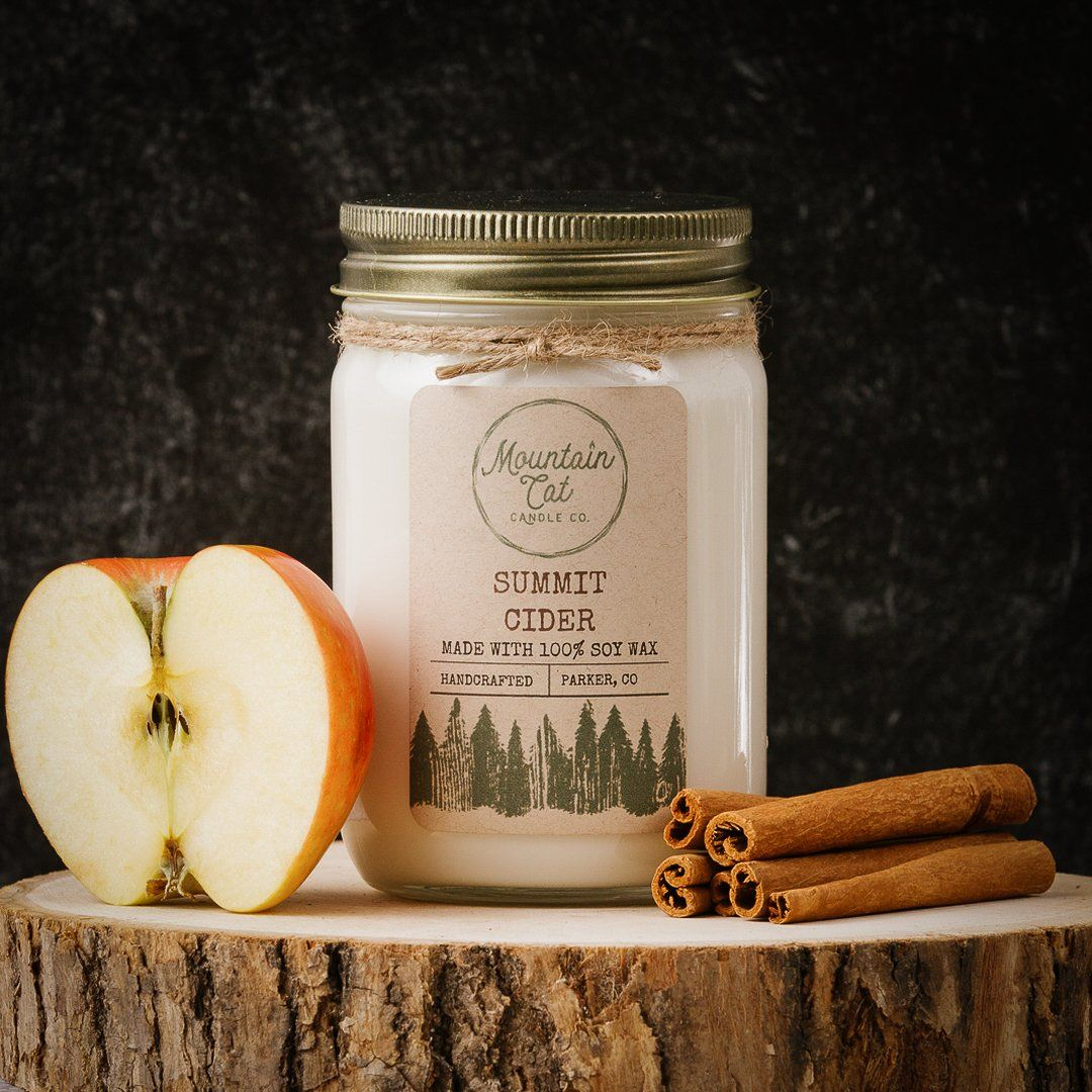 Summit Cider Candles Mountain Cat Candle Co