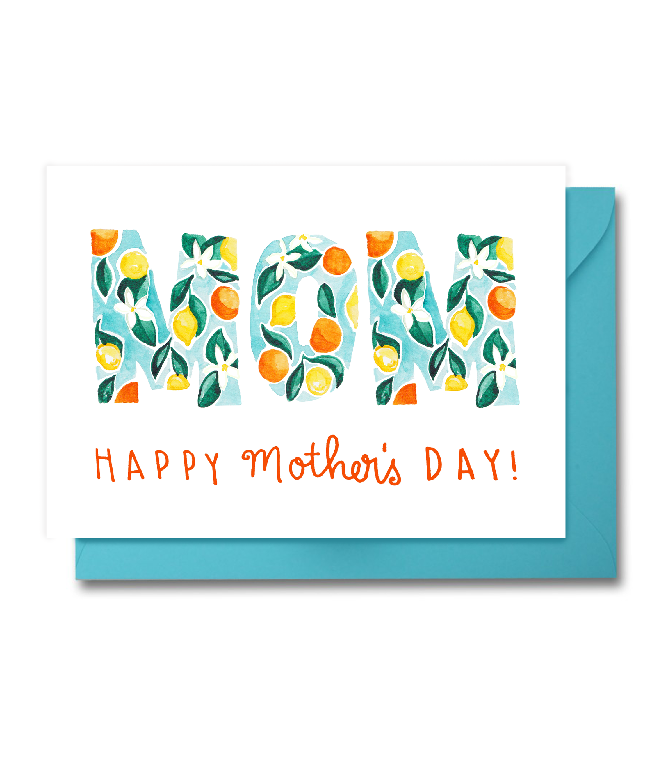 Mother's Day Card Orange and Lemon