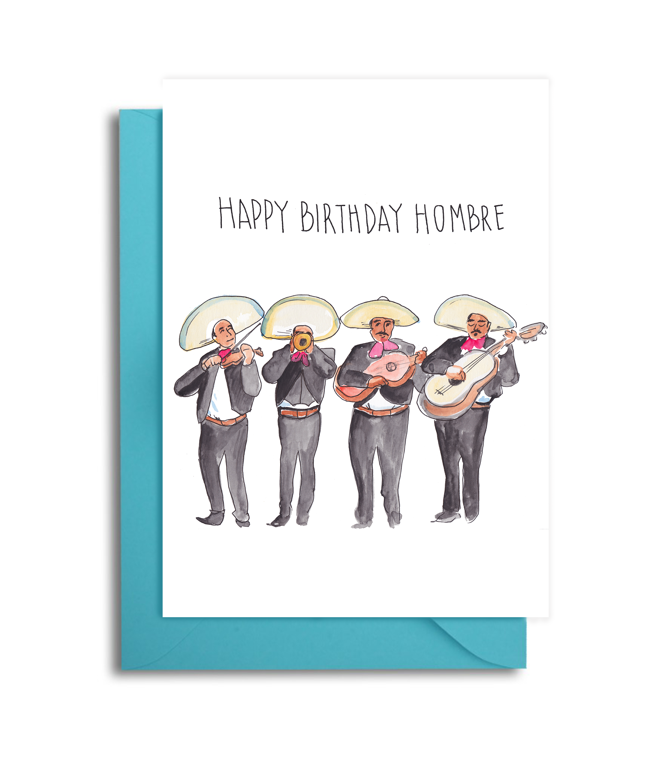 Mariachi Band Birthday Card