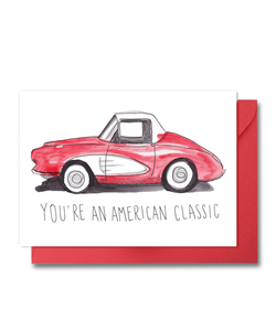 Red Corvette Card