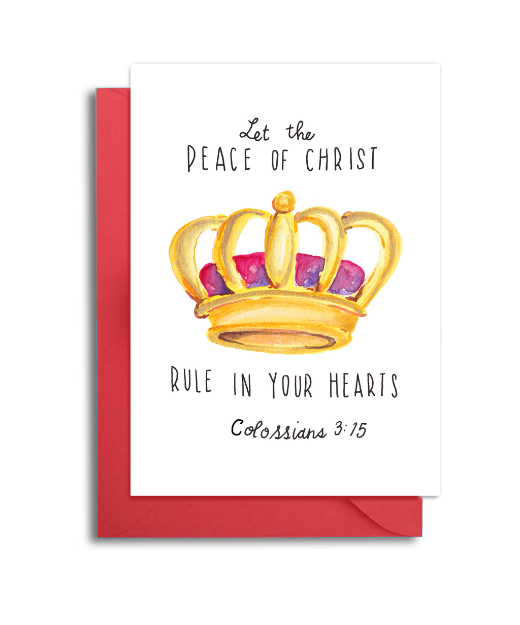Peace of Christ Christmas Card
