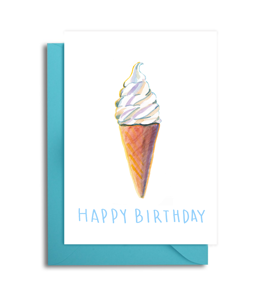 Ice Cream Cone Birthday Card