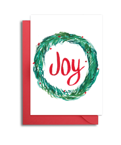 Christmas Wreath Joy Card