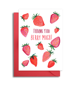 Strawberries Thank You Berry Much Card
