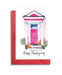 Charleston Fall Front Porch Thanksgiving Card