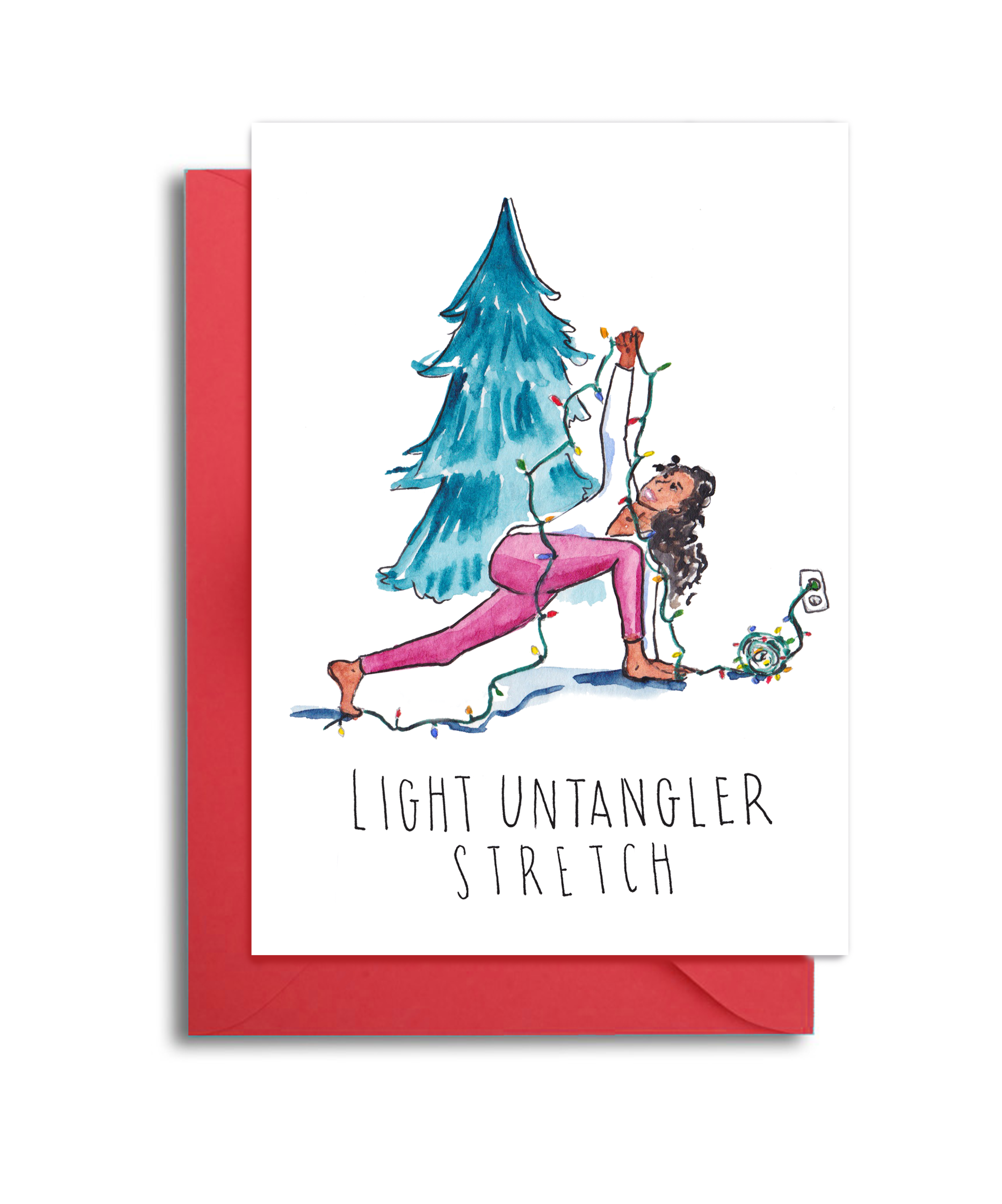 Set of Yoga Friends Christmas Cards