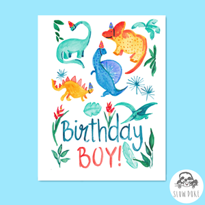 Dinosaur Birthday Boy Card