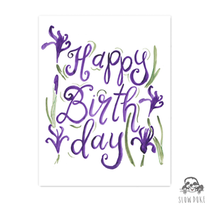 Irises Birthday Card